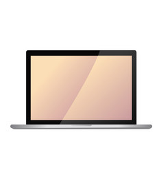 Modern laptop screen vector