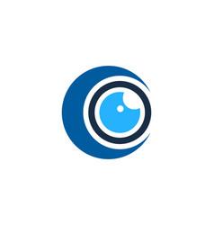Moon eye logo icon design vector