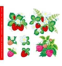 Natural organic berries set vector image