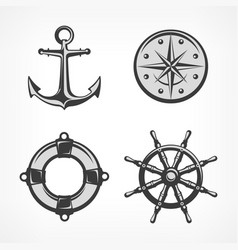 nautical symbols vector image