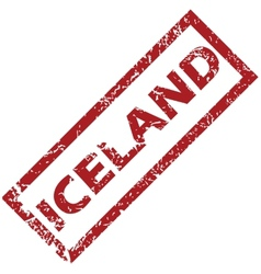 New iceland rubber stamp vector