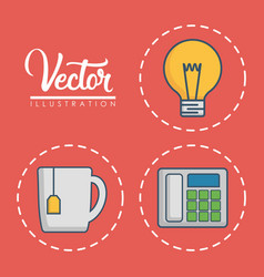 Office elements design vector