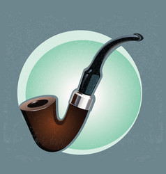 Old smoking pipe vector