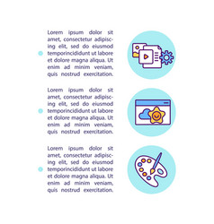 Online education concept icon with text vector