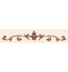 ornament in the old Gothic style vector image
