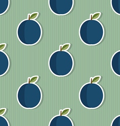 Plum pattern Seamless texture with ripe plums vector