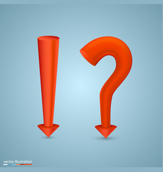 question mark and exclamatory vector image