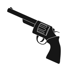 Revolver icon in monochrome style isolated on vector