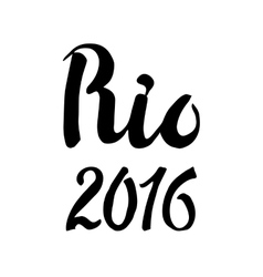Rio lettering set2016 competition games vector image