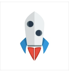 Rocket launch icon vector image