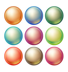 round glass sphere set opaque multicolored vector image