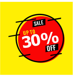 Sale up to 30 off template design vector