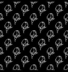 Seamless pattern with abstract white flowers vector