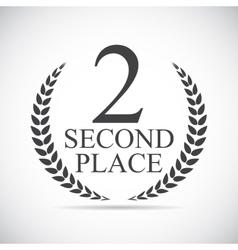 Second Place Laurel Design Label vector
