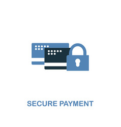 secure payment icon in two colors premium design vector image