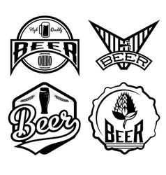 set of beer vintage labels vector image