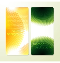 set of colorful cards vector image