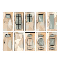 Set of door vector