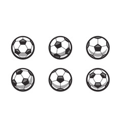 Set retro soccer balls vector