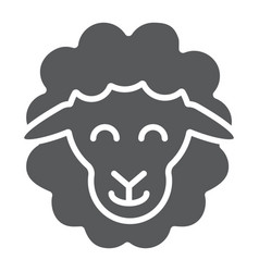 sheep glyph icon animal and rural lamb sign vector image