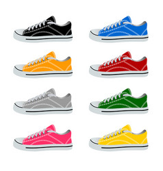 shoes in on white background vector image