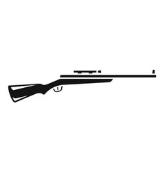 Sniper rifle icon simple style vector