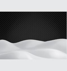 snowy landscape on dark transparent background vector image