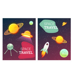 space banners set vector image