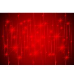Sparkling stars in red light vector