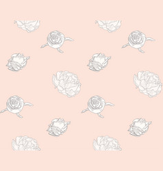subtle seamless pattern with drawn florals vector image