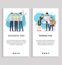 successful team and working task people at work vector image