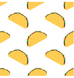 tacos seamless pattern vector image