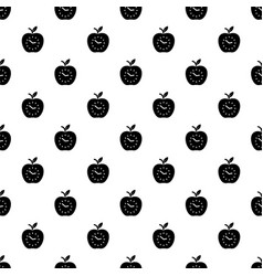 time apple pattern seamless vector image
