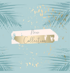 trendy chic banner design with gold colored foil vector image