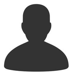 User flat icon vector