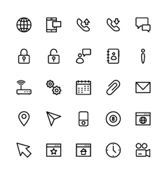 User Interface Colored Line Icons 3 vector image