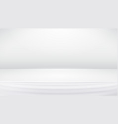 White gray studio backdrop abstract background vector