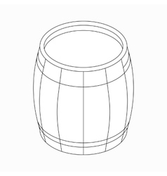 Wooden barrel icon isometric 3d style vector