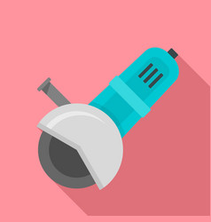 work angle grinder icon flat style vector image