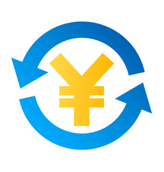 yen currency exchange icon vector image