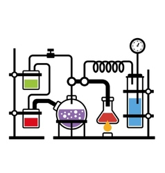 Chemistry Laboratory Infographic vector image vector image