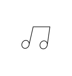 music note icon simple outline music note icon on vector image vector image