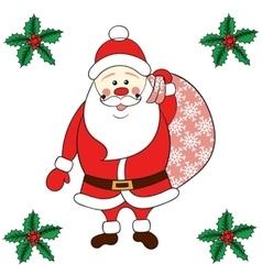 Santa Claus carrying sack vector image