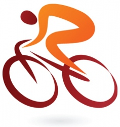 Sport silhouette series cyclist vector
