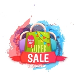 Big sale banner with color packet vector image vector image