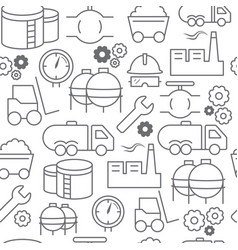 line style icons seamless pattern industrial vector image vector image