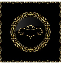 luxury gold ornament with emblem - vector image vector image