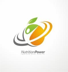 Organic Health Food creative symbol layout vector image vector image