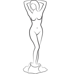 undressed woman vector image vector image