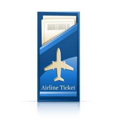airline ticket vector image vector image